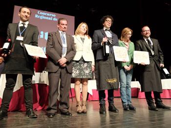 Finalistas del Concurso con Raquel González, Celia Bombín y Pablo Martin