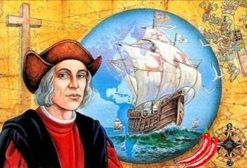 La primera persona que escribió sobre el pimiento fue Cristóbal Colón