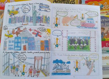 Cómics realizados por los propios estudiantes