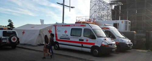 Dispositivos de Cruz Roja en Sonorama Ribera 2014