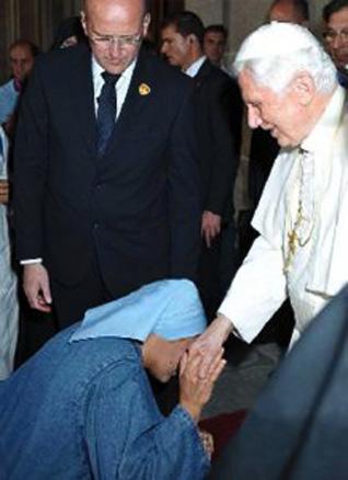 En el Escorial con Benedicto XVI