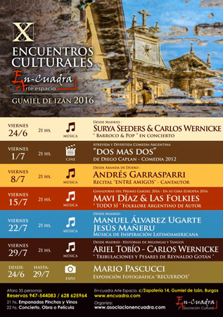 X Encuentros Culturales En-cuadra en Gumiel de Izán