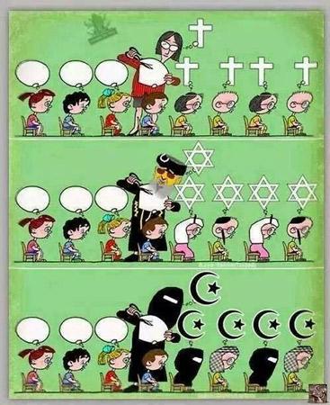 """Campaña: """"Por una escuela pública y laica: Religión fuera de la escuela"""""""