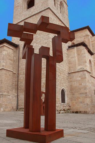 La escultura Faro de Castilla será donada a Aranda de Duero