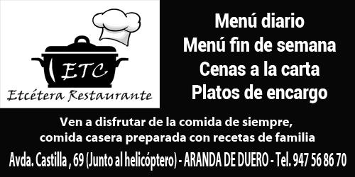 Etcétera Restaurante, en Aranda de Duero
