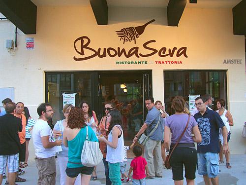 Fotografía: Javier Marqués | Entrada del Restaurante BuonaSera