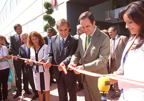 José Bono y Luis Briones durante la inauguración de Fiduero 2010