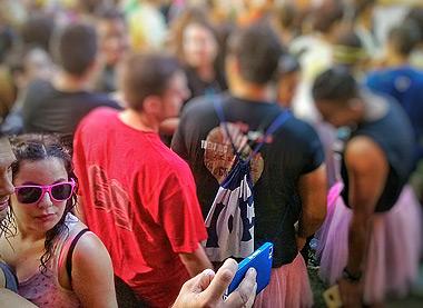 Los móviles... también se van de fiesta