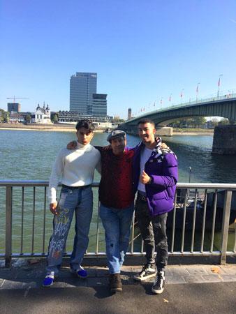 Leandro Mateos Hernandez, Jose Mateos y El Mehdi Tahir en la ciudad de Colonia (Alemania)