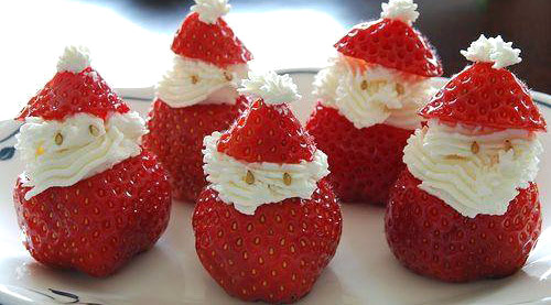 Papá Noel de fresas