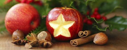 Postres con fruta en Navidad
