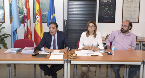 Antonio Mª. Sáez Aguado, Raquel González y Máximo López
