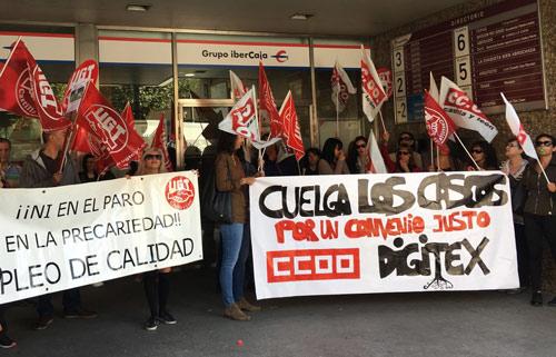 Fotografía: Teresa Sanz | Movilizaciones en Digitex Aranda de Duero