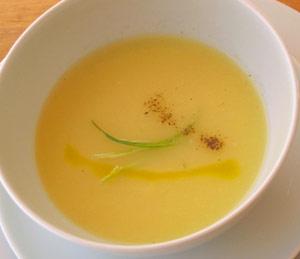 Sopa de puerros al jengibre