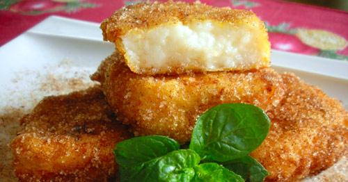 Tostadas de crema, también llamadas leche frita o crema frita