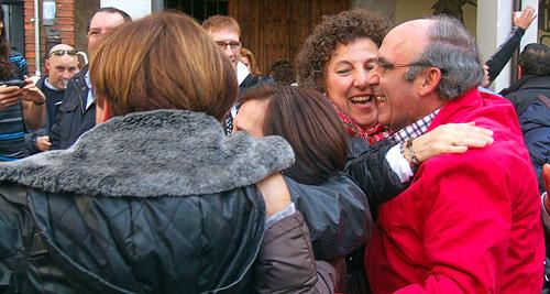 Fotografía: J.Marqués |Celebración frente a la entrada de la Peña del Chilindrón