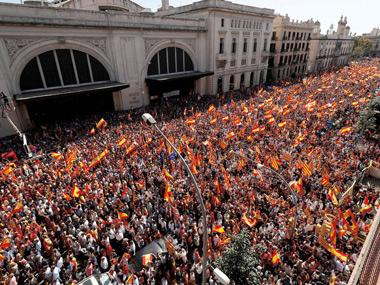 Manifestación multitudinaria por la unidad de España