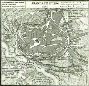 Francisco Coello | Mapa de Aranda de Duero (1868)