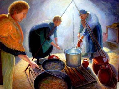 Mujeres trabajando en la Matanza