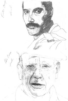 Freddie Mercury / Pablo Picasso