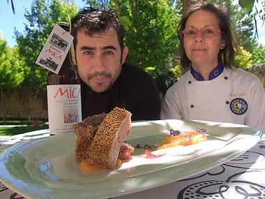 Marqués junto a Merche Abad (ArandaHOY.com)