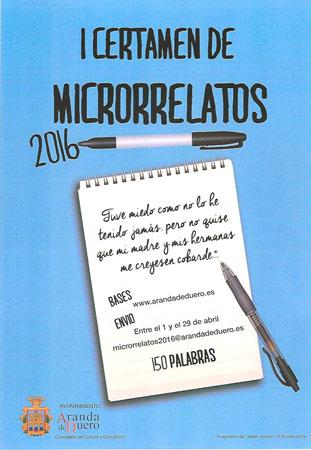 Cartel del I Certamen de Microrrelatos