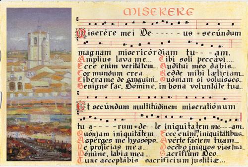 Recuperan la tradición sotillana de cantar el Miserere