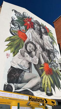 Mural de Lula en Santa Catalina