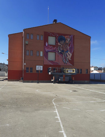 muralnano arandahoy Nuevo Mural de Nano en Santa Catalina