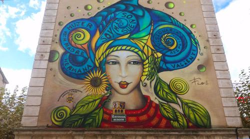 Foto: Merche Abad |  Mural en el Barrio de Santa Catalina.