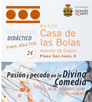 Cartel Casa de las Bolas itinerario Divina Comedia