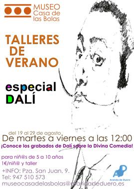 Cartel de los Talleres de Verano especial Dalí