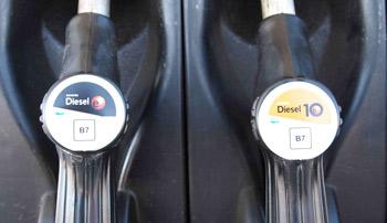 El nuevo etiquetado advierte de que los  gasóleos contienen un siete por ciento de aceites vegetales
