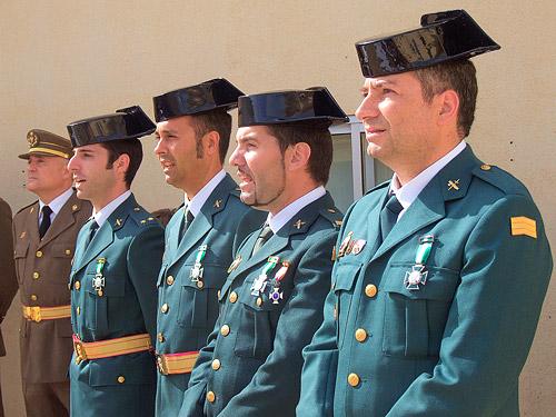 Fotografías: Javier Marqués | Los cuatro Condecorados durante el acto