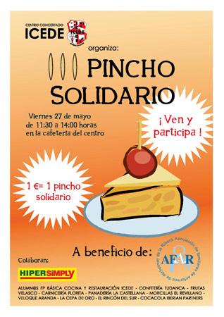 Pincho Solidario ICEDE a beneficio de AFAR Aranda