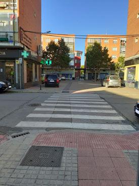 Plaza Obispo Acosta convertida en aparcamiento
