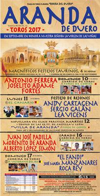 Cartel de la Feria de Toros 2017