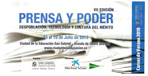 Portada del díptico del Curso de Verano 2019 en el Colegio San Gabriel