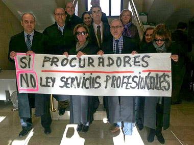 Protestas en los Juzgados de Aranda de Duero