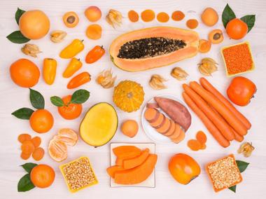 Piel seca:colores anaranjados y amarillos