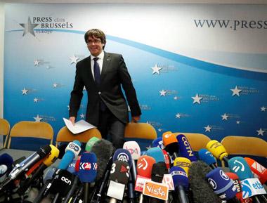 Declaraciones de Puigdemont a los Medios