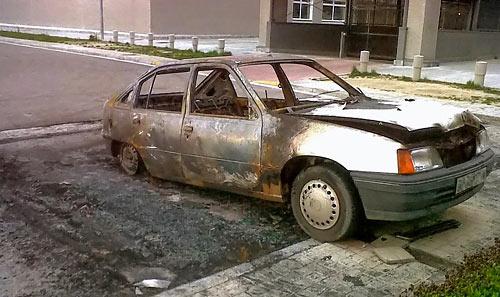Fotografía: M.Abad | Uno de los vehículos afectados.