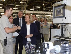 Durante la visita a las instalaciones de Renault
