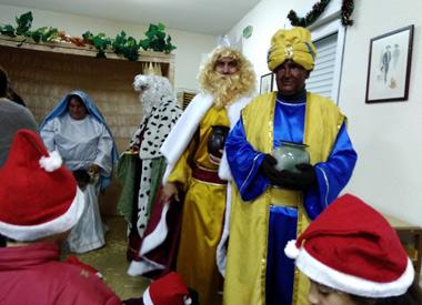 Los tres Reyes Magos en Santa Catalina