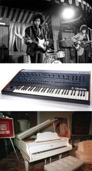 Camisa de Jimi Hendrix | Sintetizador de Queen | Piano de Elvis Presley