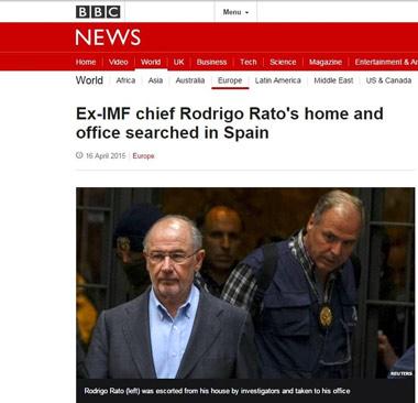 El medio británico reproduce el momento de la detención de Rodrigo Rato