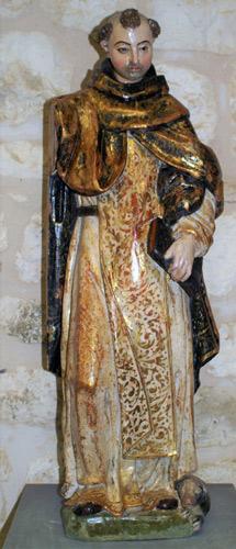 Talla del siglo XVII de santo Domingo de Guzmán una vez restaurada