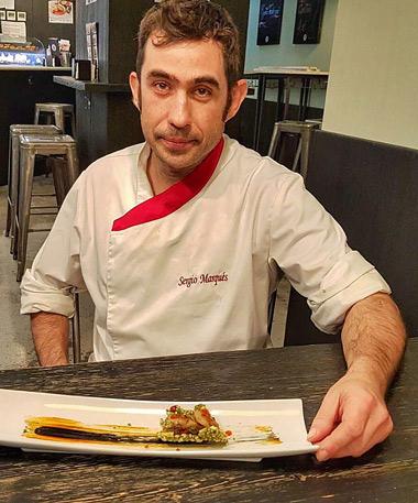 El Chef arandino Sergio Marqués