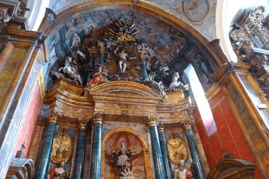 Detalle del retablo la iglesia de Sotillo de la Ribera