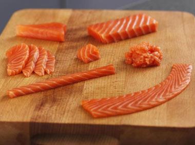 Cortes de salmón
